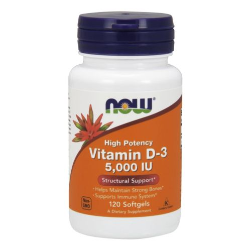 Vitamin D3 120 softgels by Now Foods