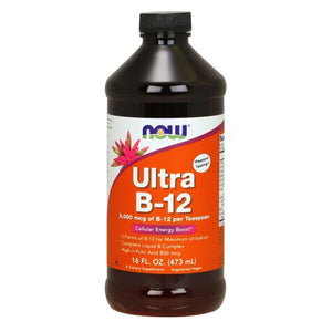 Ultra B-12 liquid 16 oz by Now Foods (2587266580565)