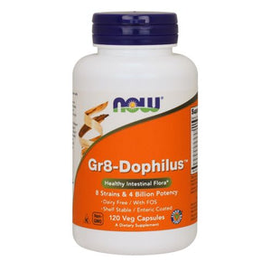 Gr 8 Dophilus - Enteric Coated 120 Vcaps by Now Foods (2587267399765)
