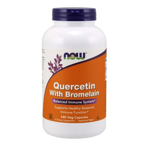 Quercetin with Bromelian 240 Vcaps by Now Foods (2587267858517)
