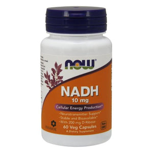NADH with Ribose 60 Vcaps by Now Foods