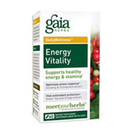 Energy Vitality 60 Caps by Gaia Herbs