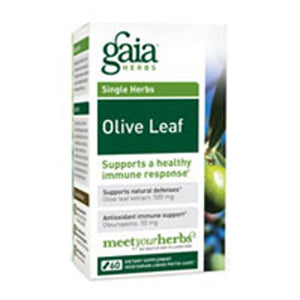 Olive Leaf 60 Caps by Gaia Herbs (2587270316117)