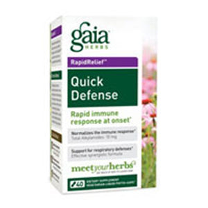 Quick Defense 40 Caps by Gaia Herbs (2587271037013)