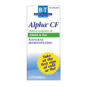Alpha CF Colds & Flu Bonus Pack 120 Tabs by Boericke & Tafel