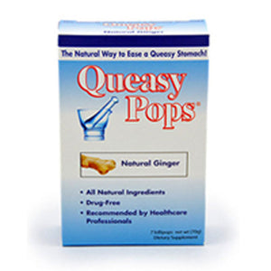 Queasy Pops Natural Ginger 7 CT by Three Lollies