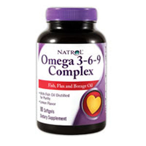 Omega 3-6-9 Complex 90 Softgels by Natrol (2589083795541)
