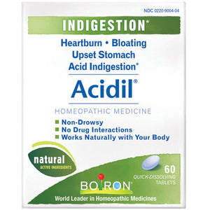 Acidil Heartburn 60 Tabs by Boiron (2583976640597)