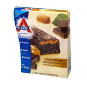 Advantage Bar Caramel Double Chocolate Crunch 5 Pkts by Atkins (2587277164629)