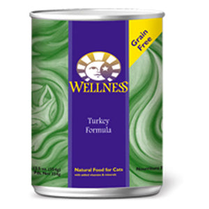 Canned Cat Recipes Turkey 5.5 oz(case of 12) by Wellness (2587277295701)