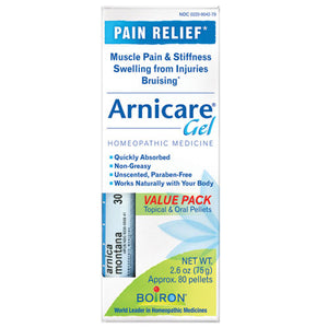 Arnica Gel & Blue Tube Value Pack 2.6 oz by Boiron