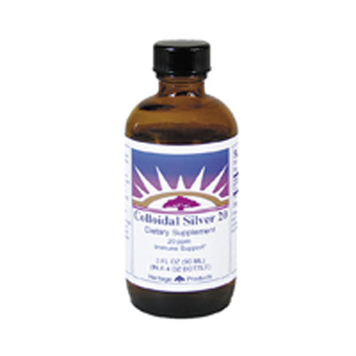 Colloidal Silver 20PPM 3 oz by Heritage Products