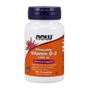 Vitamin D-3 180 Chewables by Now Foods (2587296628821)