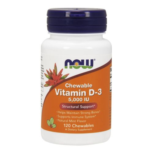 Vitamin D-3 Mint flavor120 Chewables by Now Foods