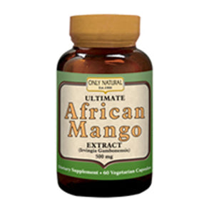 Ultimate African Extract Mango 60 Vcaps by Only Natural (2587297251413)