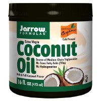 Coconut Oil 100% Organic Extra Virgin 454 gms by Jarrow Formulas