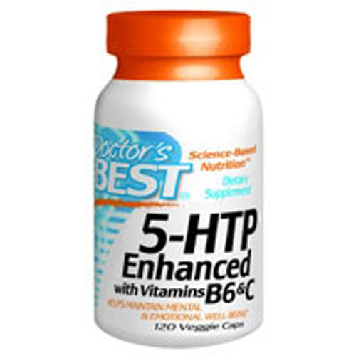 5HTP Enhanced With Vitamins B6 And C 120 Veg Caps by Doctors Best