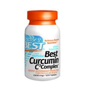 Curcumin C3 Complex with Bioperine 120 Tabs by Doctors Best (2584243798101)