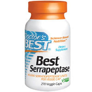 Best Serrapeptase 270 Veggie Caps by Doctors Best (2584249270357)