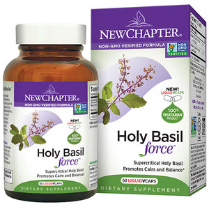 Holy Basil Force 60 Veg Caps by New Chapter (2587272216661)