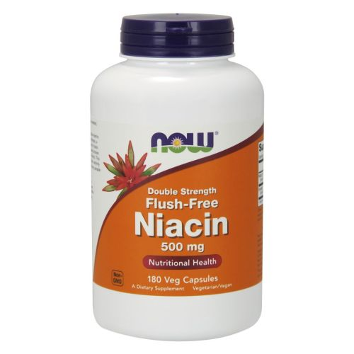 Flush-Free Niacin 180 Vcaps by Now Foods