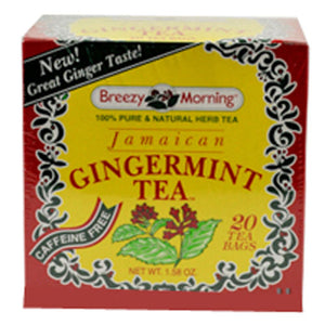 Jamaican Ginger Tea 20 Bag by Breezy Morning Teas (2588957114453)