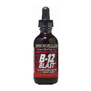 B-12 Blast Raspberry Liquid 2 OZ EA by Bricker Labs (2584025464917)