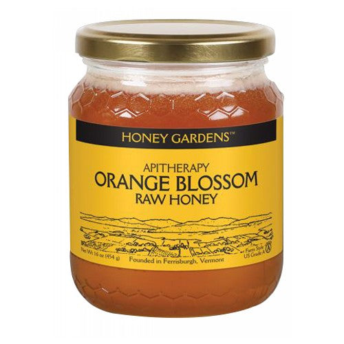 Raw Honey Orange Blossom, 1 lb by Honey Gardens Apiaries