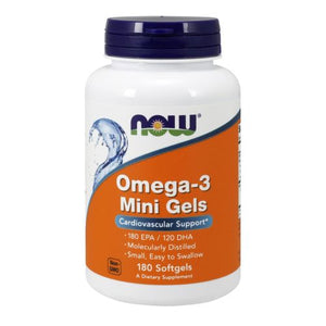 Omega-3 Mini Gels 180 softgels by Now Foods (2587303313493)