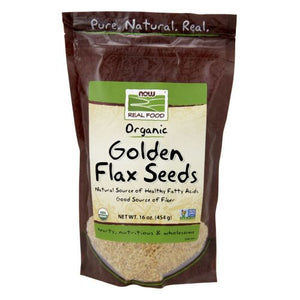 Golden Flax Seeds Organic 1 lb by Now Foods (2587305476181)