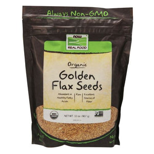 Golden Flax Seeds Organic 2 lb by Now Foods (2587305541717)