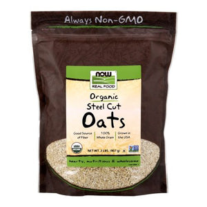 Steel Cut Oats 2 lb by Now Foods (2587305640021)