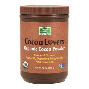 Cocoa Powder Certified Organic 12 oz by Now Foods (2587306000469)