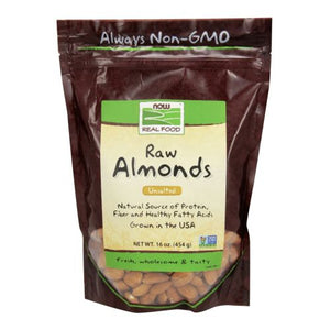 Almonds Natural Unblanched 1 lb by Now Foods (2587307475029)