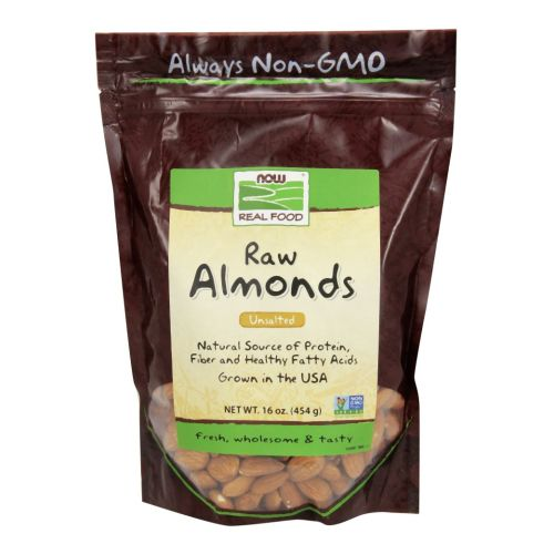 Almonds Natural Unblanched 1 lb by Now Foods