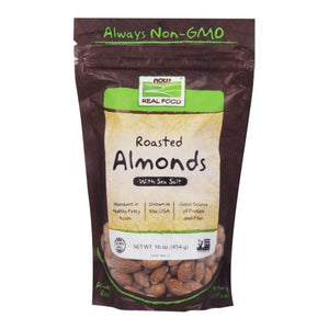 Almonds Roasted & Salted 1 lb by Now Foods (2587307540565)