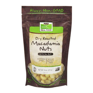 Dry Roasted & Salted Macadamia Nuts 9 oz by Now Foods (2589112860757)