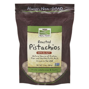 Pistachios Roasted and Salted 12 oz by Now Foods (2587307737173)