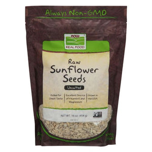 Sunflower Seeds Raw Hulled Unsalted 1 lb by Now Foods (2587307901013)