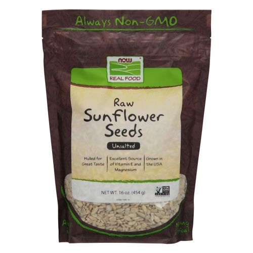 Sunflower Seeds Raw Hulled Unsalted 1 lb by Now Foods