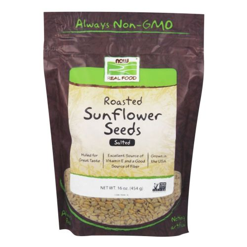 Sunflower Seeds Roasted Salted 1 lb by Now Foods