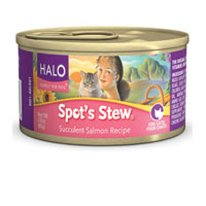Canned Cat Food Salmon 3 oz(case of 12) by Halo Purely For Pets (2587312783445)