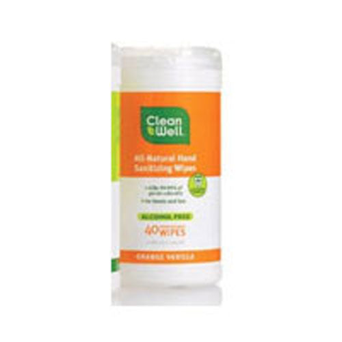 Hand Sanitzng Wipes Orange & Vanilla 40 ct by CleanWell