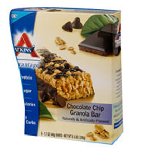 Advantage Bar Chocolate Chip Granola 5 Pkts by Atkins (2587277033557)