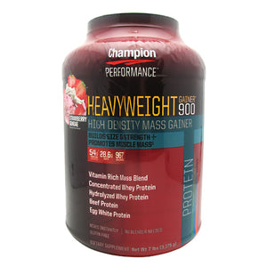 Heavyweight Gainer 900 Strawberry 7 Lbs by Champion Nutrition (2588671803477)