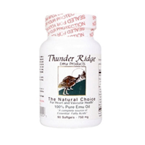 Emu Oil Gel Caps 90 ct by Thunder Ridge Emu