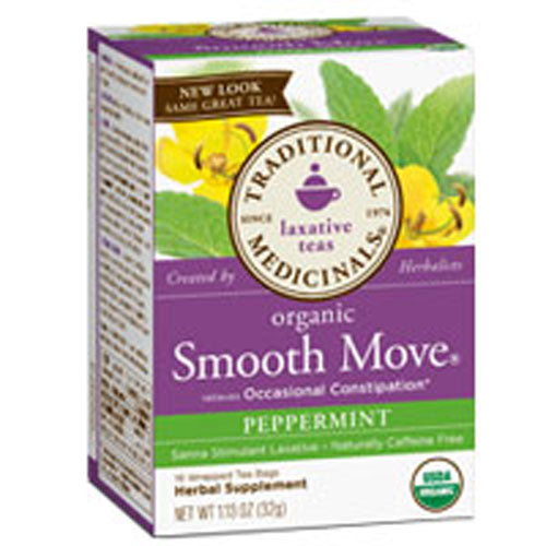 Organic Smooth Move Tea Peppermint 16 bags by Traditional Medicinals Teas