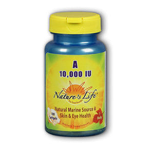 Vitamin A 250 softgels by Nature's Life (2587324547157)