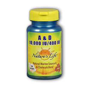 Vitamin A & D 100 softgels by Nature's Life (2587324678229)