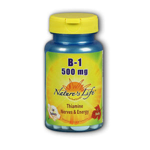 Vitamin B-1 50 tabs by Nature's Life (2587324743765)